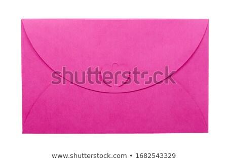 rosa · envelope · abrir · carta · vermelho · amor - foto stock © adrian_n