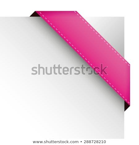 rose · coin · frontière · illustration · roses · rouges · fleur - photo stock © orson