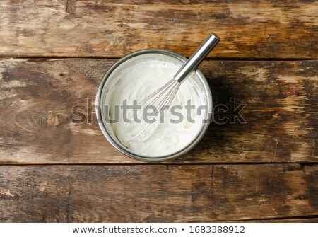 Mixer whisks with cream Stock photo © simply