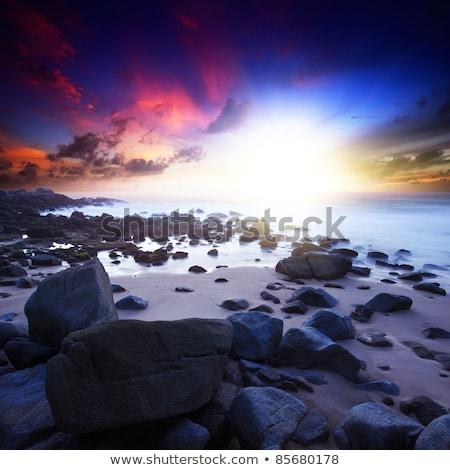 uzun · pozlama · kaya · plaj · kuzey · Portekiz · bo - stok fotoğraf © moses