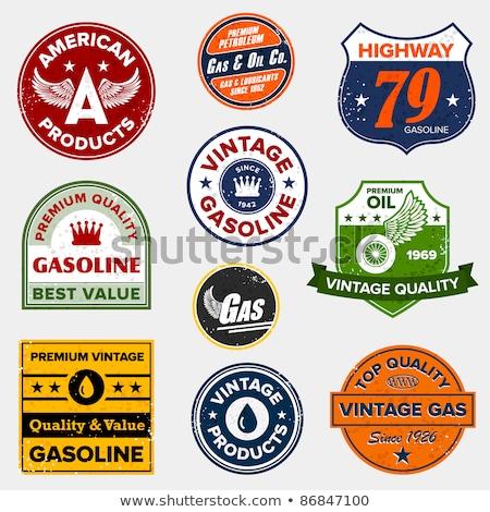 Stok fotoğraf: Vintage Retro Gas Signs
