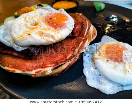 Preparato uovo sole alimentare caffè piatto Foto d'archivio © ilolab
