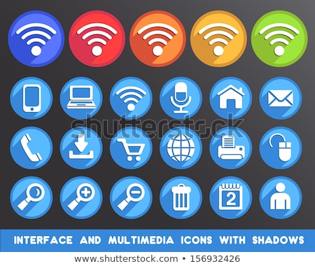New Web and Media Internet button Icon Stock photo © fenton