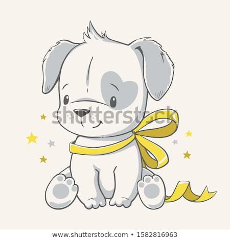 Bébé chiot anglais bulldog rouge isolé Photo stock © sapegina