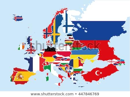 continente · Europa · mappa · stelle · sfondo · segno - foto d'archivio © rbiedermann