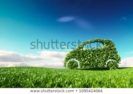 eco · coche · aislado · blanco · naturaleza · nube - foto stock © adamson