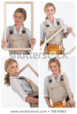 Collage of a tradeswoman at work Stock photo © photography33