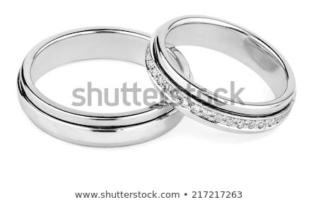 prata · anéis · de · casamento · imagem · dois · casamento · isolado - foto stock © vichie81