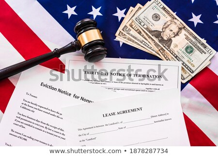 Gavel and House - Losing Home to Foreclosure and Bankruptcy Stock photo © iqoncept