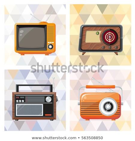 nostálgico · rádio · estúdio · fotografia · velho · isolado - foto stock © prill