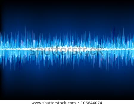 Sound waves oscillating on blue. EPS 8 Stock photo © beholdereye