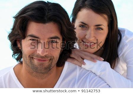 cabeça · ombros · tiro · bem · casal · branco - foto stock © photography33