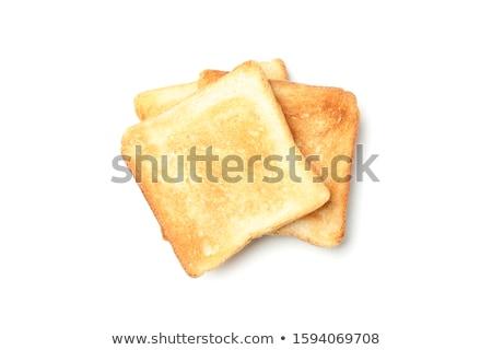 トースト 白 孤立した 淡い 青 朝食 ストックフォト © kitch