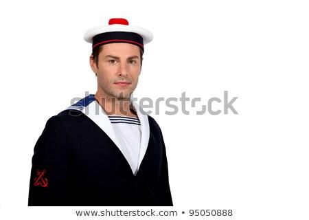 男 船乗り 衣装 顔 面白い スタジオ ストックフォト © photography33