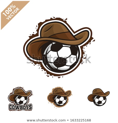 Cowboy football cartoon ballon visage Photo stock © chromaco