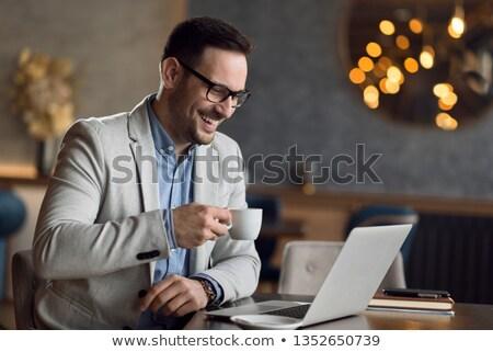 молодые · деловой · человек · перерыва · портфель - Сток-фото © feedough