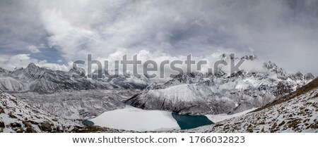 Mountains view from the top of Gokyo Ri summit Stock photo © Arsgera