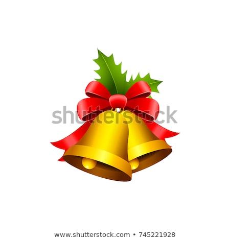 Ilustrowany christmas wstążka wakacje Zdjęcia stock © komodoempire