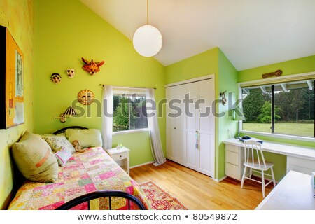 Architecture Stock Girls Bed room Design Photo Images stock photo © cr8tivguy