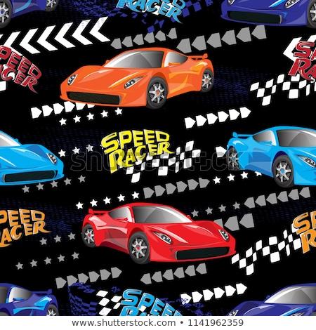 Cartoon ретро автомобилей бумаги автомобилей Сток-фото © Sylverarts