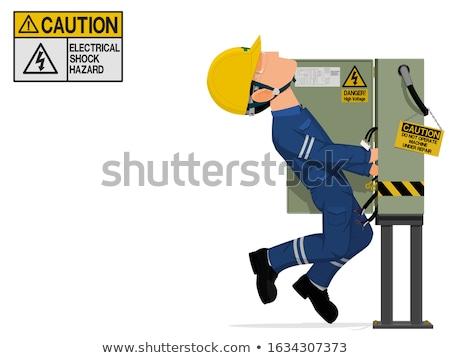 Villanyszerelő sebesült elektromos rázkódás férfi munkás Stock fotó © photography33