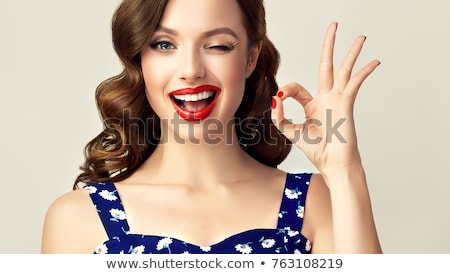 The winking woman Stock photo © timbrk