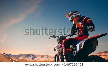 Motorcross fiets race snelheid macht extreme Stockfoto © dotshock