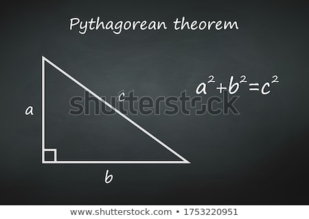 Pythagorean theorem Stock photo © stevanovicigor