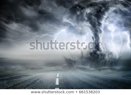 Tornádó égbolt fű út fal absztrakt Stock fotó © mariephoto