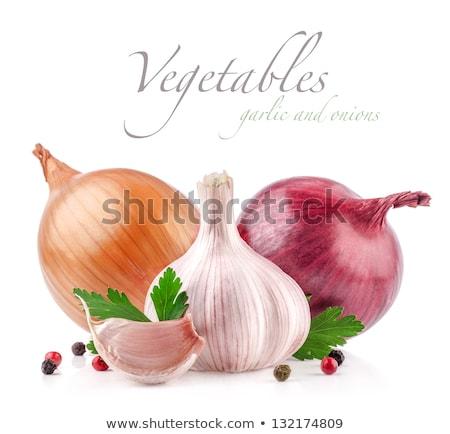 grano · de · pimienta · ajo · sal · marina · rústico · imagen · alimentos - foto stock © melpomene