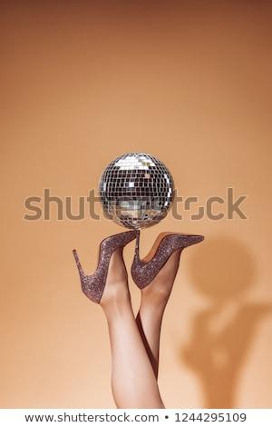 Yüksek topuklu disko bacak ayakkabı pembe Stok fotoğraf © dolgachov