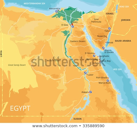 map of egypt stock photo © schwabenblitz