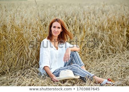 hat summer portrait stock photo © carlodapino