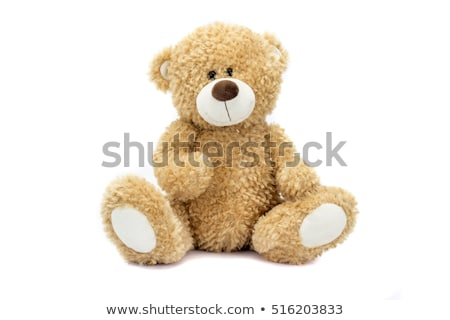 Nounours blanche rouge ours objet Photo stock © Stocksnapper