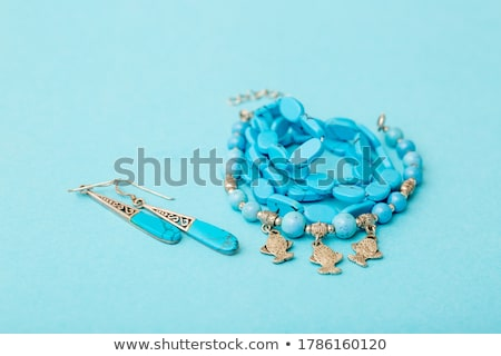 бирюзовый · минеральный · синий · текстуры · моде · красоту - Сток-фото © johnkasawa