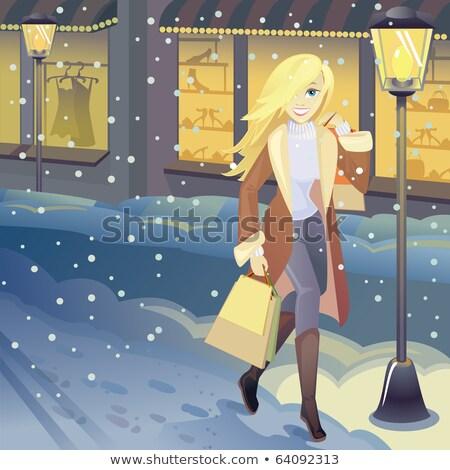zimą · nastrój · wzrosła · biodro · drzewo - zdjęcia stock © carodi