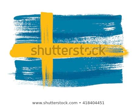 Swedish flag drawing Stock photo © marinini