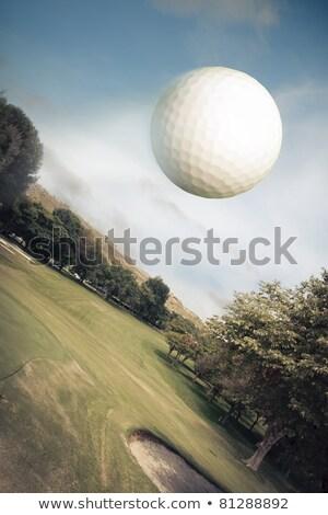 pallina · da · golf · verde · prato · golf · club · tramonto - foto d'archivio © mikhailmishchenko