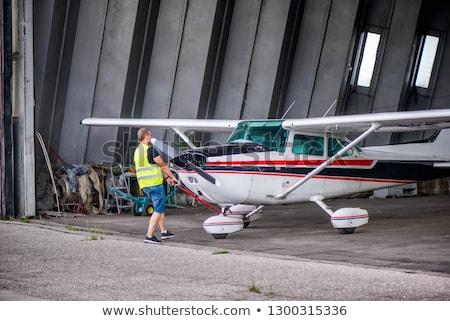 Abandoned Aircraft Hangar Stock photo © oliverjw