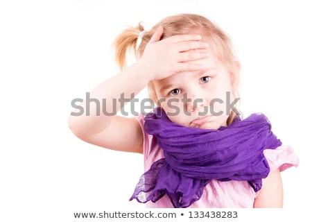 Little girl with chickenpox Stock photo © olinkau
