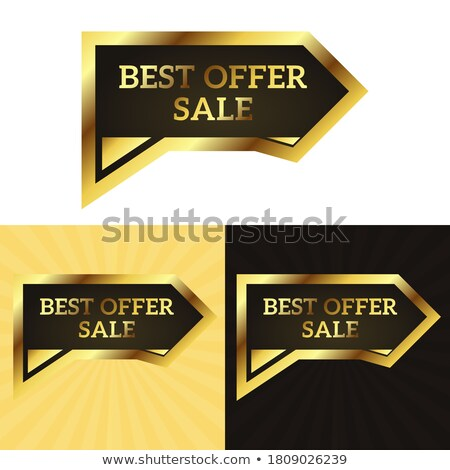 Vector Best Offer Labels Illustration with shiny styled design. stock photo © articular