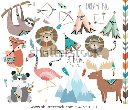 establecer · funny · naturaleza · vector · Cartoon - foto stock © genestro
