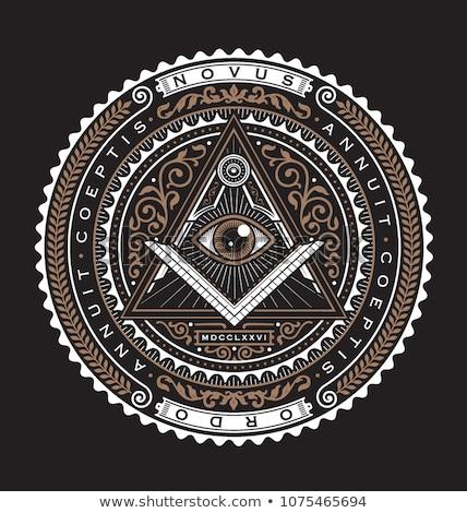 Badge of the Illuminati Stock photo © SVitekD