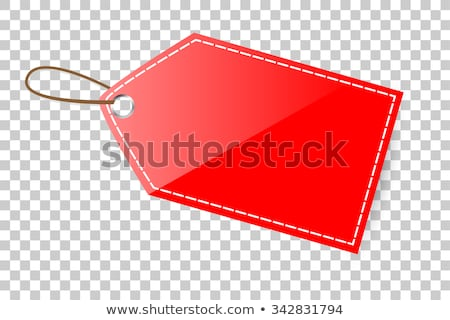Stock photo: Blank Red Price Tag