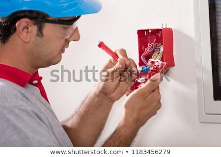 Alarm Installer Stock photo © photography33