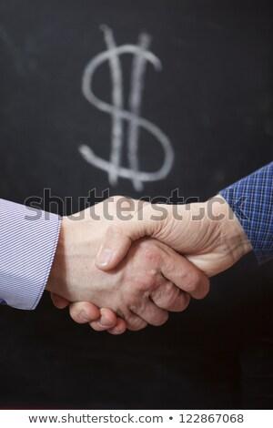男 ドル記号 黒板 はげ 眼鏡 ストックフォト © stevanovicigor