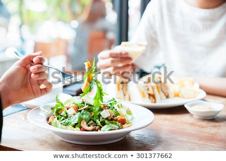 Ki ebéd iroda jegyzet citromsárga papír Stock fotó © Lightsource