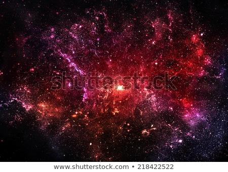 抽象的な 炎のような 星雲 火災 背景 壁紙 ストックフォト © butenkow