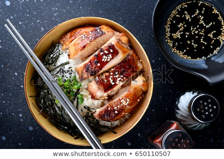 куриные терияки вверх кусок китайский стекла Сток-фото © zhekos
