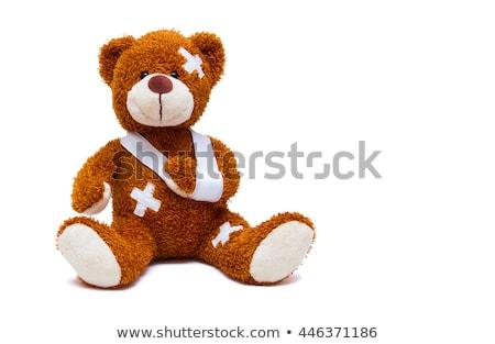 enfermos · peluche · lesión · cama · osito · de · peluche · hospital - foto stock © grazvydas